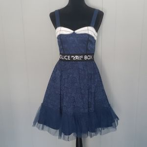 Dr. Who Police Call Box Dress Hot Topic SciFi Punk